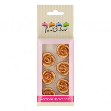 Rose di zucchero Oro 6 pezzi funcakes