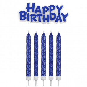 Candeline Buon Compleanno BLU 17 pz