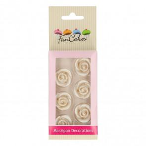 Rose di zucchero Argento 6 pezzi funcakes